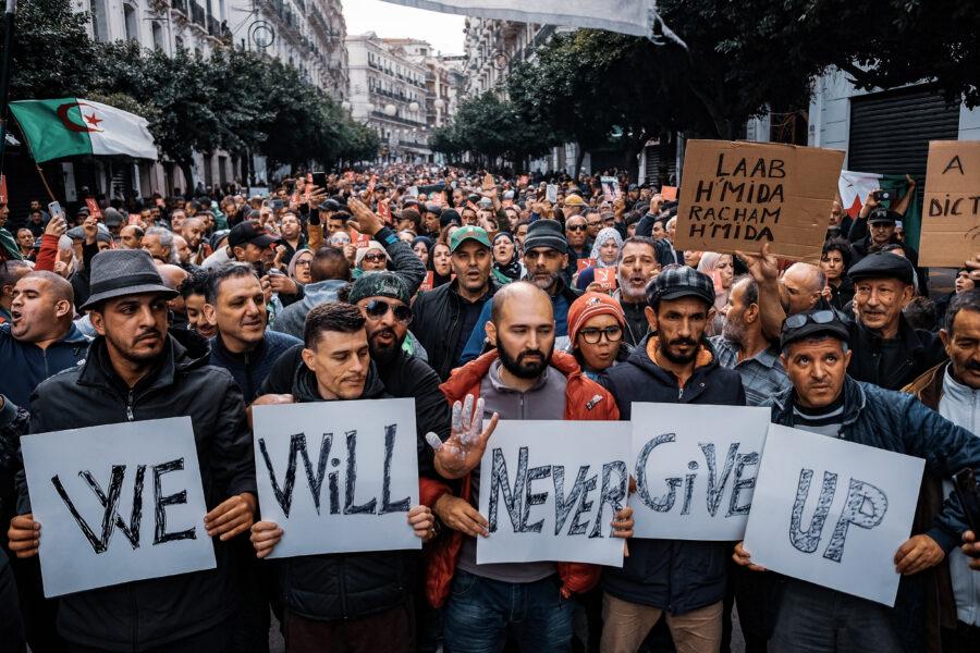 Algeria protests in the midst of coronavirus pandemic.